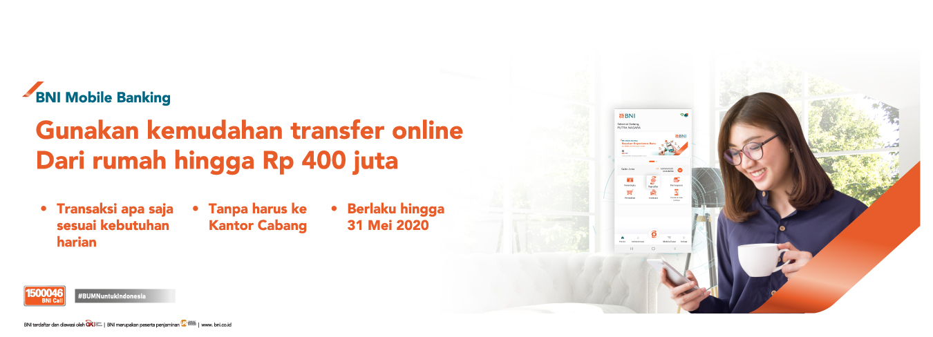 Kenaikan Limit Transfer via BNI Mobile Banking