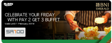 Celebrate Your Friday With Pay 2 Get 3 Buffet At Satoo Shangri-La Hotel, Jakarta
