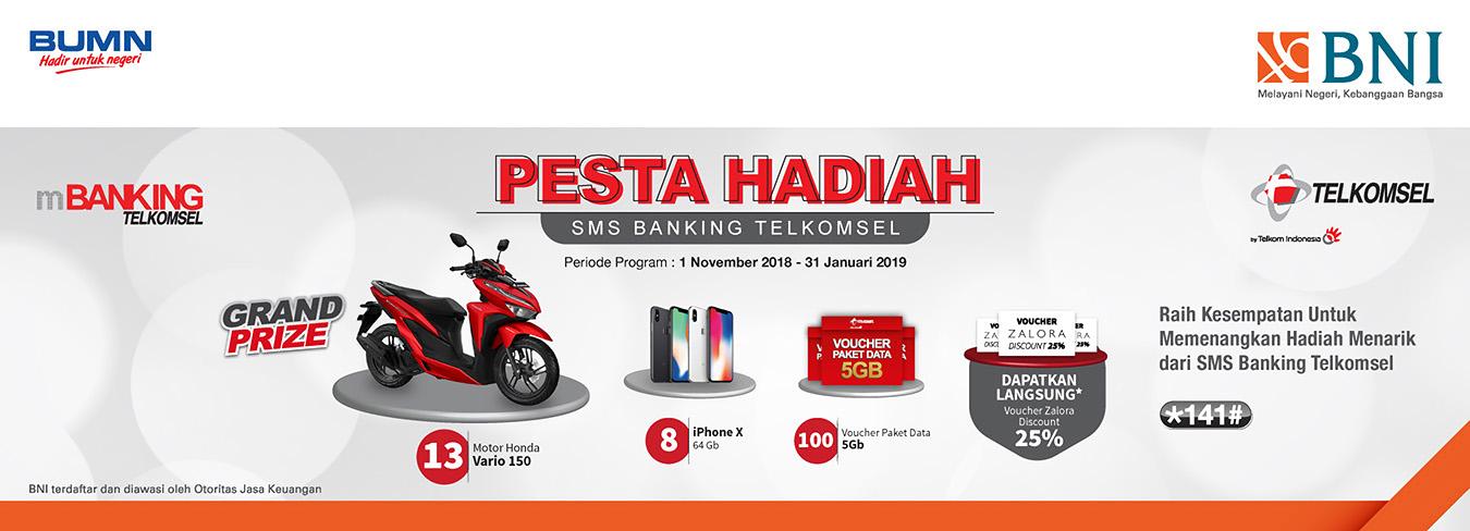 Pesta Hadiah SMS Banking Telkomsel