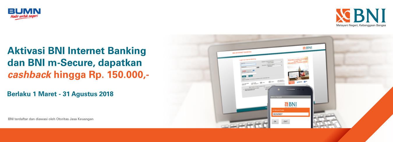 BNI Internet Banking dan BNI M-Secure