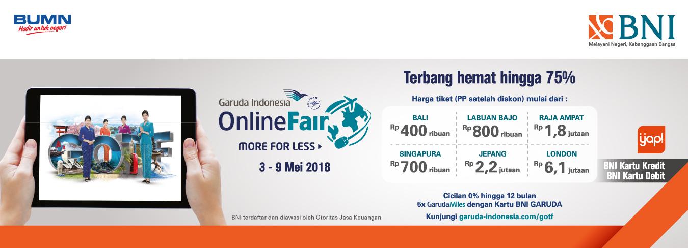 Garuda Indonesia Online Travel Fair