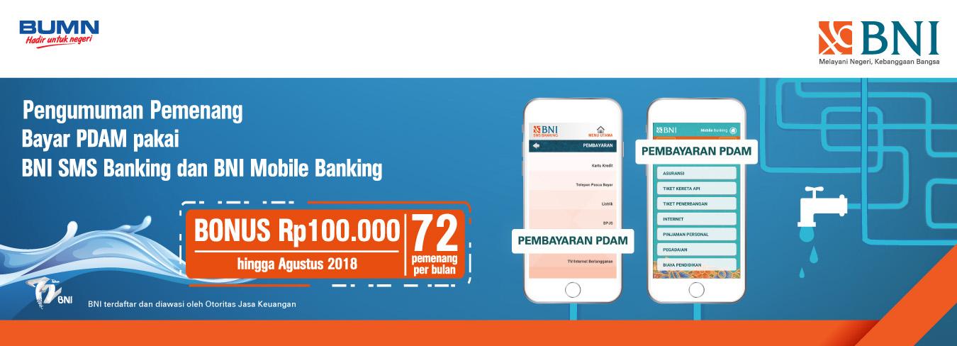 Pengumuman Pemenang Bayar PDAM Pakai BNI SMS Banking Dan BNI Mobile Banking