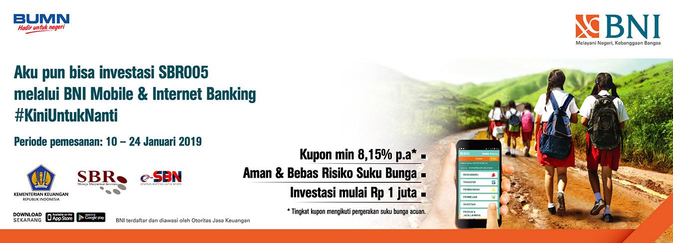 Aku Pun Bisa Investasi SBR005 Melalui BNI Mobile dan Internet Banking