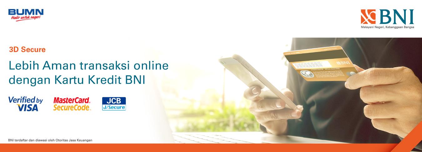 3D Secure - Lebih Aman Transaksi Online Dengan Kartu Kredit BNI