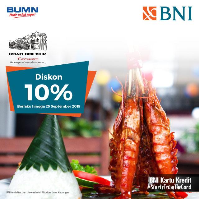 Diskon 10% di Omah Dhuwur Restaurant, Yogyakarta