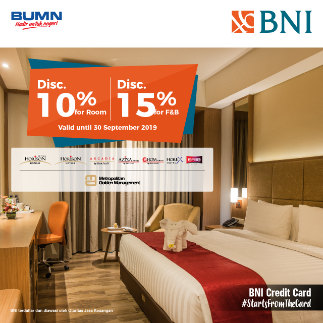 Diskon 10% for Room & 15% for F&B di Horison Hotel Group