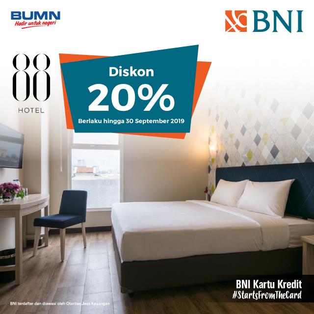 Diskon 20% di Hotel 88, Surabaya