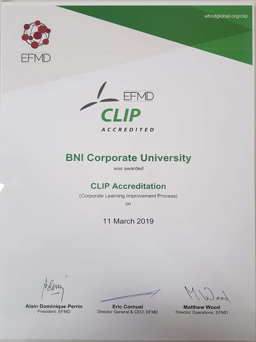 CLIP Accreditation (Corporate Learning Improvement Process)