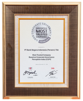 Most Trusted Company Based on Corporate Governance Perception Index (CGPI)
