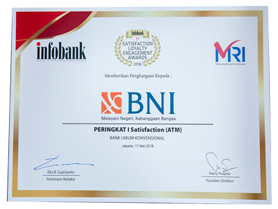 Peringkat 1 Satisfaction (ATM)
