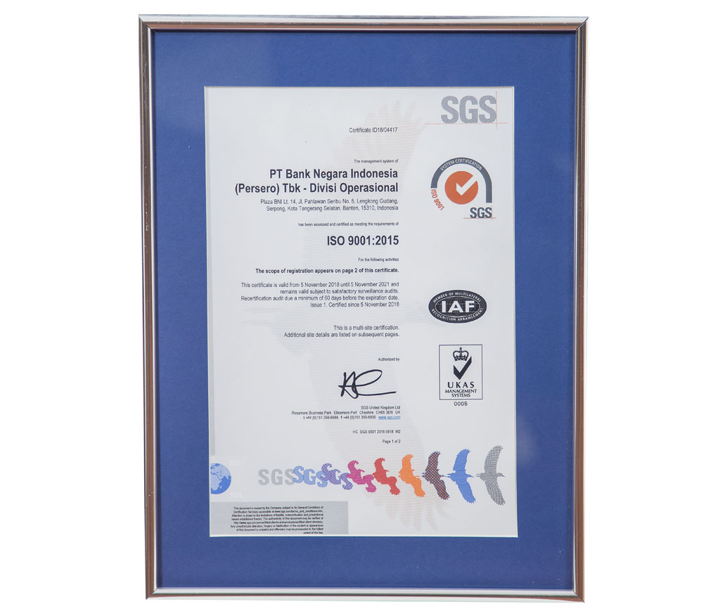 SNI ISO 9001:2015 Satisfactory Surveillance Audit